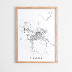 Townsville minimalist map print