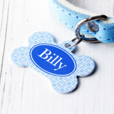 Personalised Square Pet Tag Bone Shaped (P01)