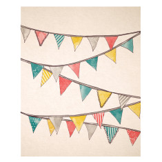 An April Idea bunting print