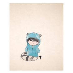 An April Idea raccoon print