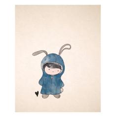 An April Idea rabbit print