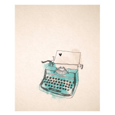 An April Idea vintage typewriter print