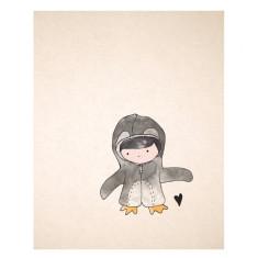 An April Idea penguin print