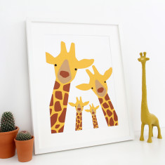 Personalised giraffe family selfie