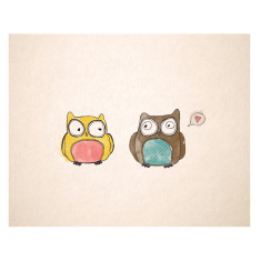 An April Idea love owls print