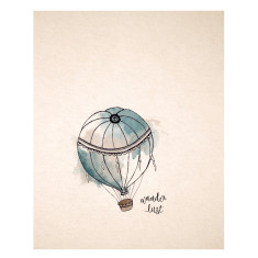 An April Idea hot air balloon print