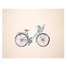 An April Idea vintage bicycle print