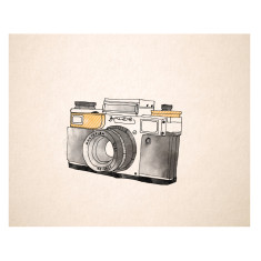 An April Idea vintage camera print