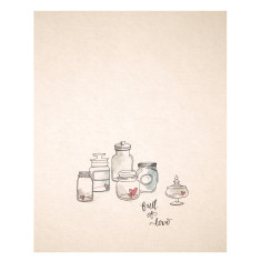 An April Idea jars of love print