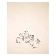 An April Idea jars of love print