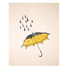 An April Idea umbrella print