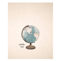 An April idea around the world print