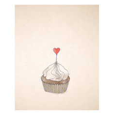 An April Idea cupcake print