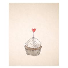 An April Idea cupcake print