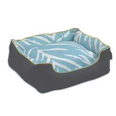 Zebra pillow dog beds in turquoise