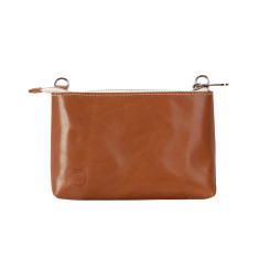 Leather brekky bag in tan