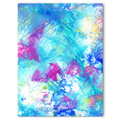 Beach life colourful abstract canvas