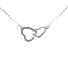 Two hearts necklace in silver
