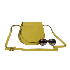 Yellow Canary leather Cross-body bag