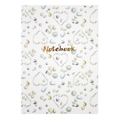 Beach Notebook with gold foil