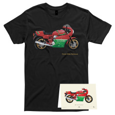 Ducati Mike Hailwood t-shirt with FREE matching card