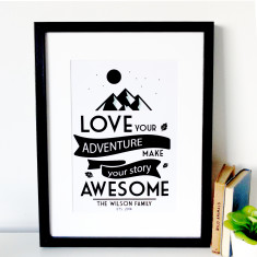 Personalised Adventure Story Print