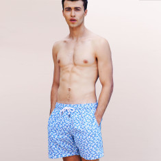 Summer time blues printed swim shorts