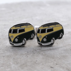 Combi stainless steel cufflinks