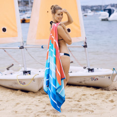 Lucie's Bay - Large Beach Towel