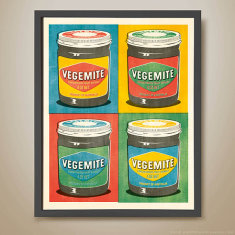 Vegemite multiple pop art print