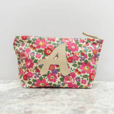 Monogram Liberty Print Make Up Bag