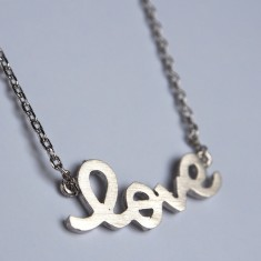 Love letter pendant necklace in silver