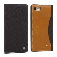 Premium leather iPhone 7/ 7+ case in dark brown