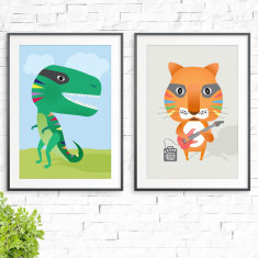 Smileysaurus & Rock On Prints (2 Pack)