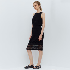 Atlas Lace Jersey Dress