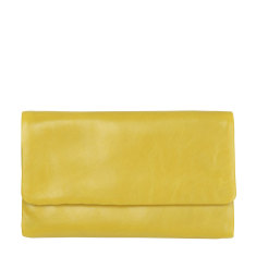 Audrey leather wallet in yellow