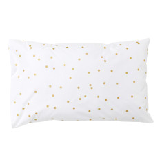 Gold sprinkle sprinkle organic pillowcase