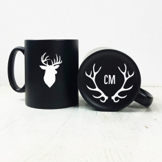 Stag's Head Carved Mug