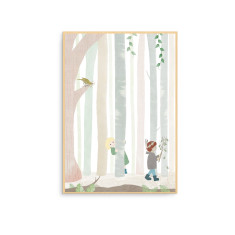 In the Forest with a Songbird Nursery Wall Art Print