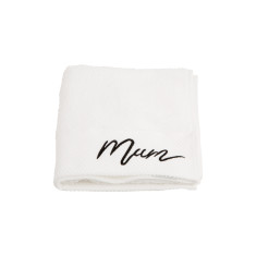 Typography Mum Embroidered Hand Towel
