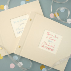 Personalised Silver Leaf Christening Photo Album
