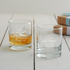 Personalised 'Will You Be My Best Man?' Whisky Glass