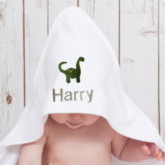 Personalised Dinosaur Baby Towel