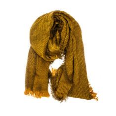 Herringbone acrylic knit scarf