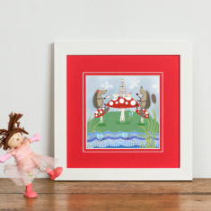 Hedgehugs Tea Party Print