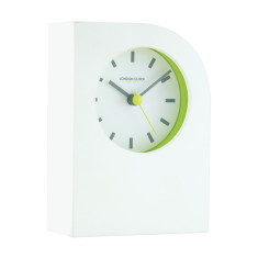 London Clock Company Tangent White Table Clock