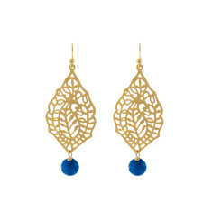 Gold Malaga blue earrings