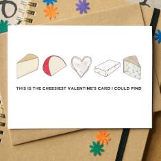Cheesy Valentine's card