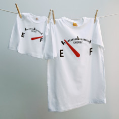 Energy gauge t-shirt twinset for dad and child