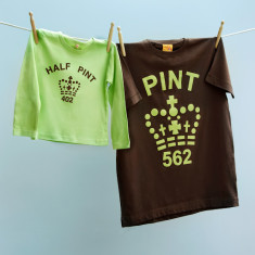 Matching pint and half pint t-shirt set for dad and son or daughter - Mint Choc Chip